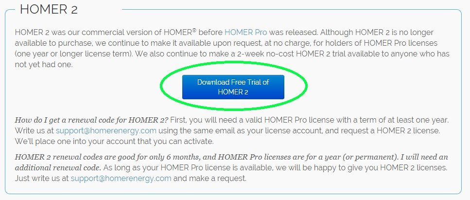 HOMER Energy | How to download and install HOMER 2 (v2